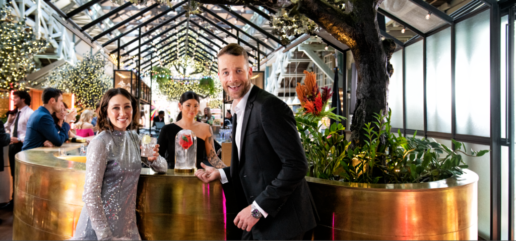 Zoe Foster Blake and Hamish Blake, in Tourism Australia's Holiday Here This Year, City Escapes campaign, filmed at Alibi Bar at Ovolo Woolloomooloo.